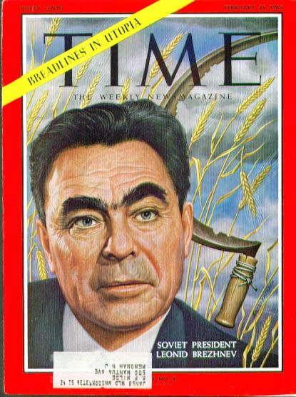 Image for Artzybasheff cover Brezhnev Time 2/21 1964