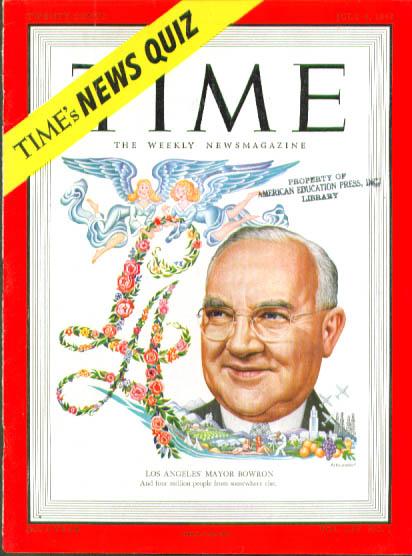 Artzybasheff cover Los Angeles Mayor Bowron Time 7/4 1949