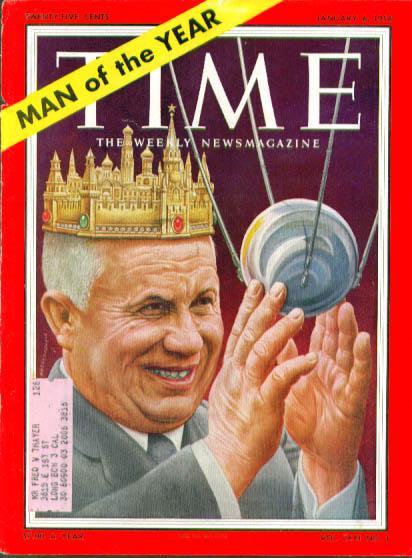 Artzybasheff cover Khrushchev Time 1/6 1958