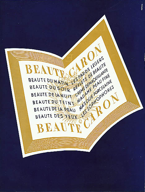 Image for Beaute Caron perfume cosmetics ad 1938