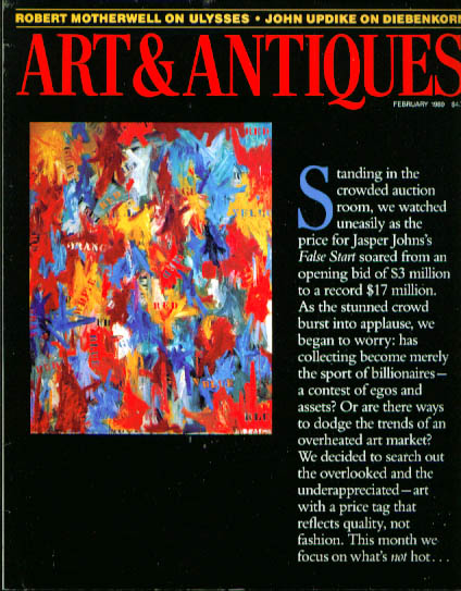 Image for ART & ANTIQUES Kollwitz Motherwell John Updike Picasso Jasper Johns 2 1989