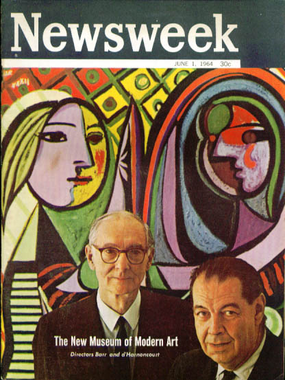 Image for NEWSWEEK Museum of Modern Art Directors Barr & d'Harnoncourt 6/1 1964