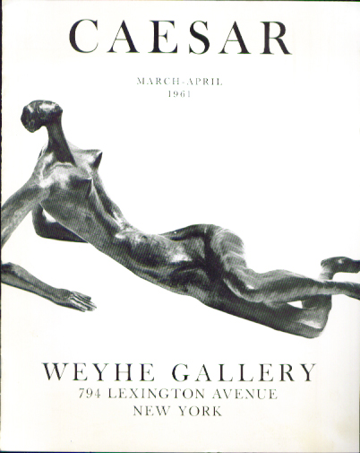 Image for Caesar sculpture: Weyhe Gallery exhibition catalog 1961