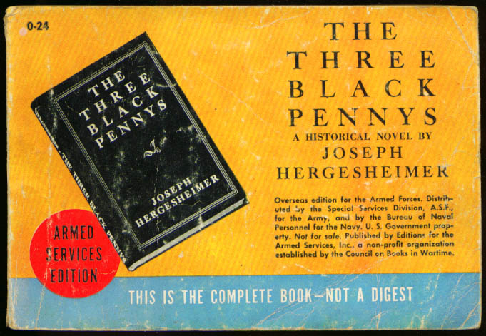 Image for ASE O-24 Joseph Hergesheimer: The Three Black Pennys