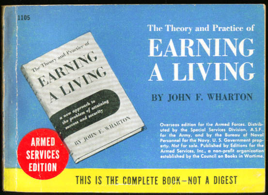 ASE 1105 Wharton: Theory & Practice of Earning a Living