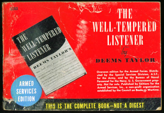 Image for ASE 1103 Deems Taylor: The Well-Tempered Listener