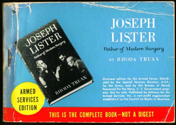ASE 762 Rhoda Truax: Joseph Lister