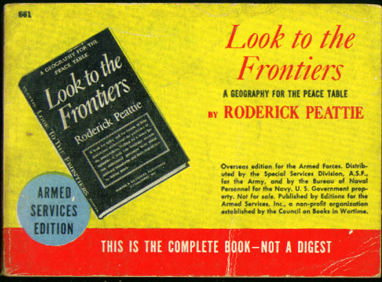 ASE 661 Roderick Peattie: Look to the Frontiers