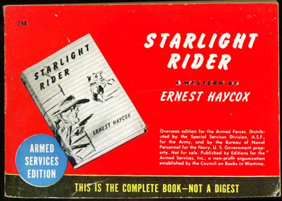 ASE 748 Ernest Haycox: Starlight Rider