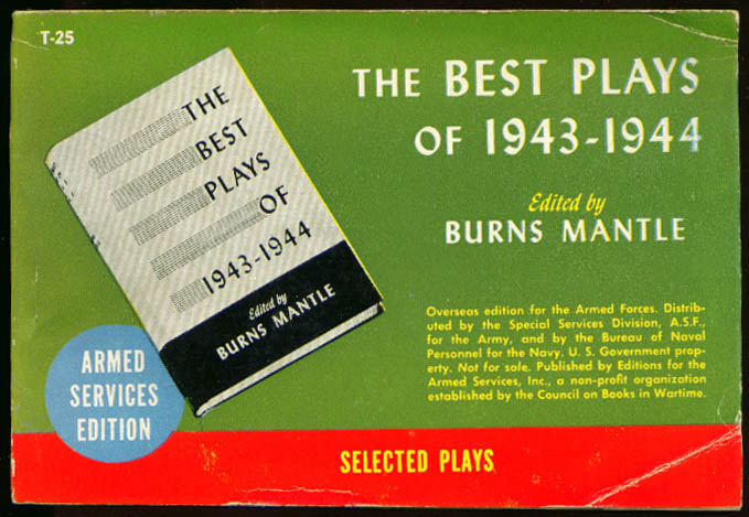 Image for ASE T-25 Burns Mantle: Best Plays of 1943-1944