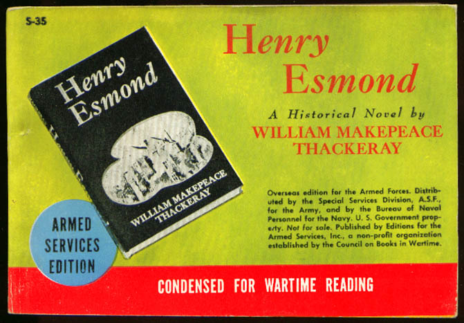 ASE S-35 William Makepeace Thackeray: Henry Esmond