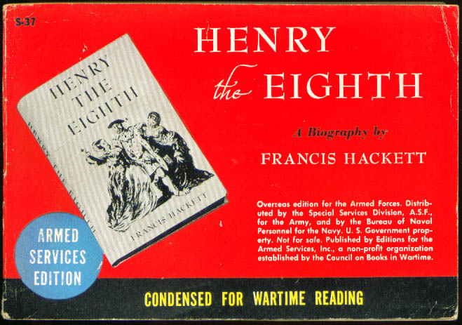 Image for ASE S-37 Frances Hackett: Henry the Eighth