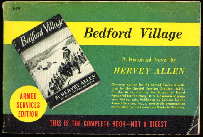 ASE 849 Hervey Allen: Bedford Village