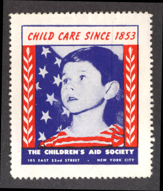 Child Care Since 1853 Children's Air Society NYC cinderella stamp ca 1940s