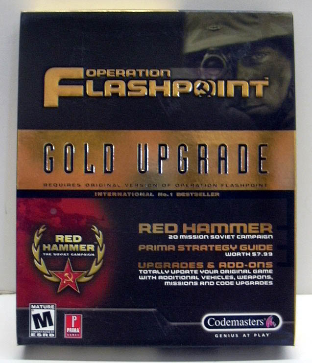 Image for Operation Flashpoint Gold Upgrade Red Hammer PC CD-ROM game 2001 NEW - SEALED