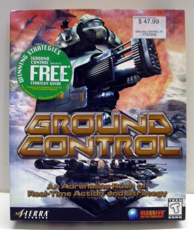 Ground Control Windows PC CD-ROM game 2000 NEW - SEALED