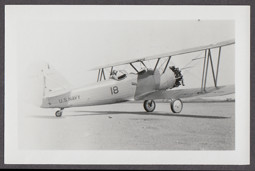1930s Naval Aircraft Factory N3N-1 (0771) US Navy biplane airplane photo