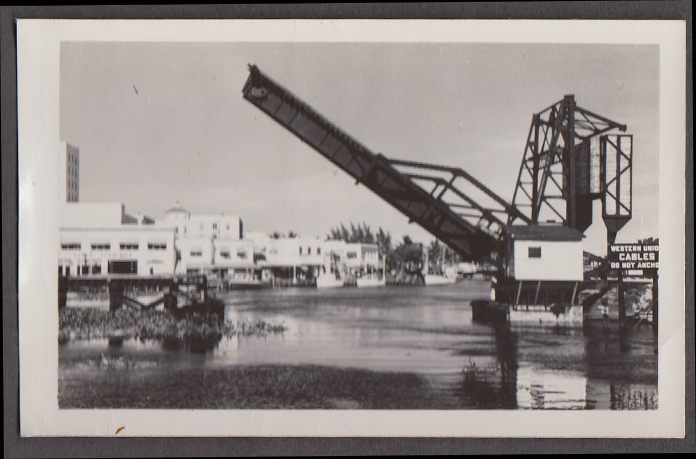Image for Florida East Coast Railway Bridge Ft Lauderdale snapshot ca 1950s