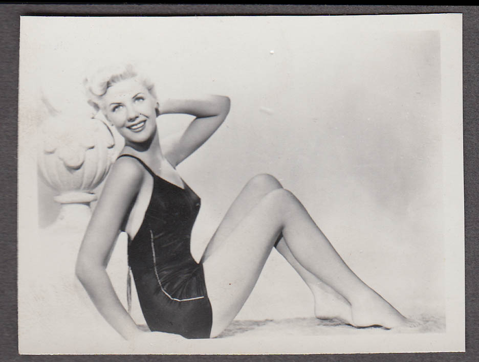 Image for Actress Marie MacDonald pin-up swimsuit pose fan club photo ca 1940s