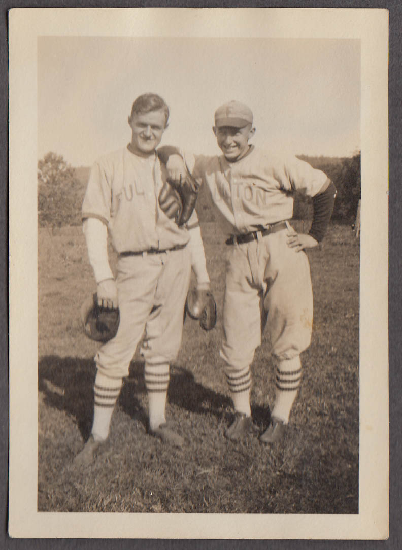 Image for Fred Lockhart's teammates Fulton Baseball Team Waterbury CT snapshot 1940s