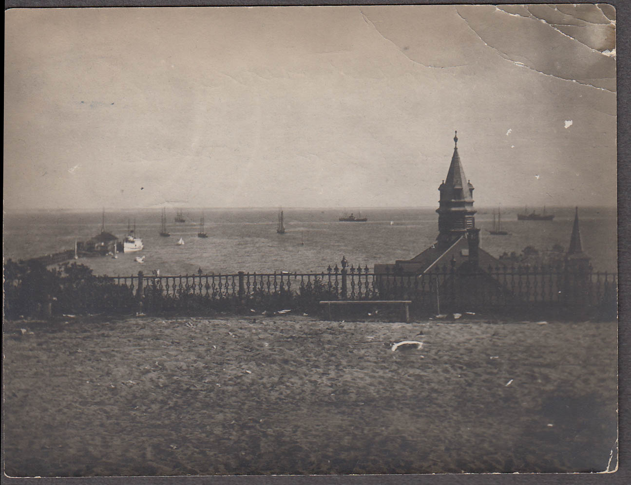 Image for Provincetown harbor from base of monument MA snapshot ca 1915