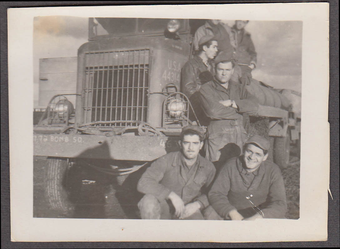 Image for Crew with truck #44314 772nd Bomb Squadron snapshot ca 1944