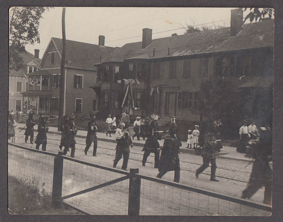 Image for 4th of July Parade Salem St near Broiadway Square Boston snapshot ca 1908
