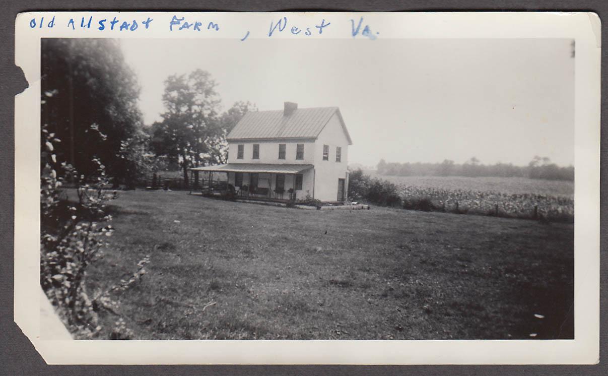 Image for Old Allstadt Farm the Elders Harpers Ferry WV snapshot ca 1940s #1