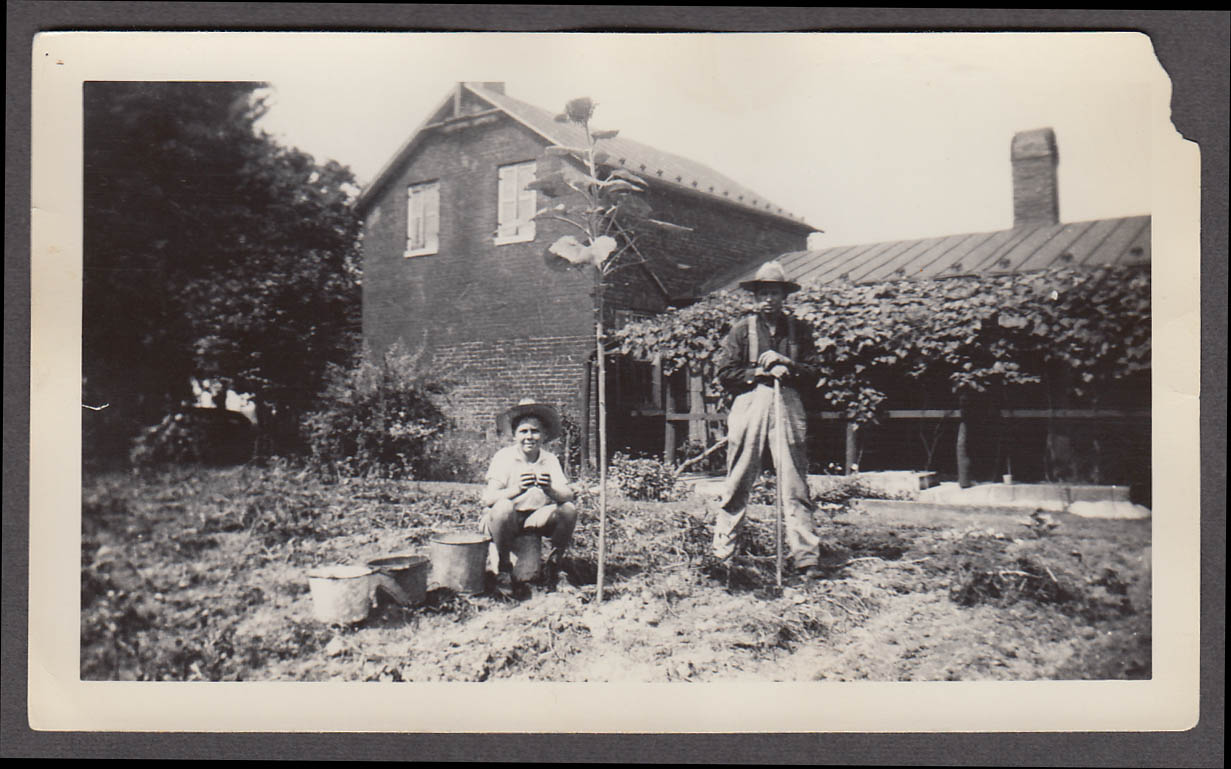 Image for Emmor Elder & Richard Vaughn Jr Harper's Ferry WV snapshot ca 1940s
