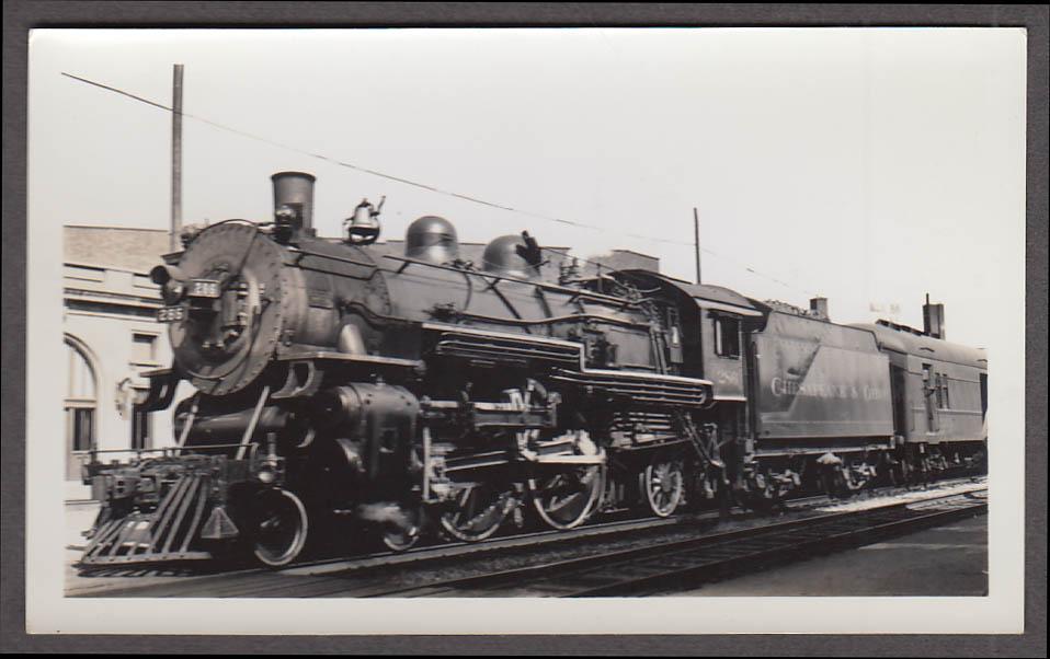 Image for Chesapeake & Ohio Railroad 4-4-2 #256 locomotive photo