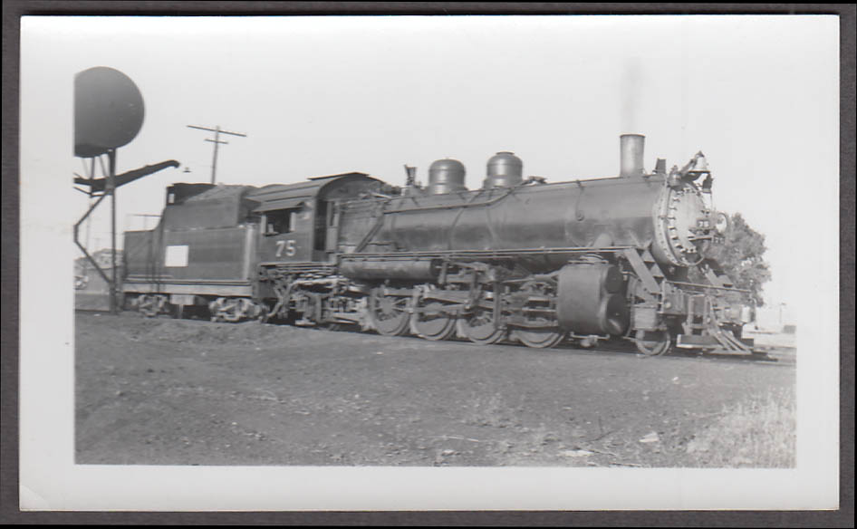 Image for Midland Valley Railroad 2-8-2 #75 locomotive photo Fort Smith AR 1942
