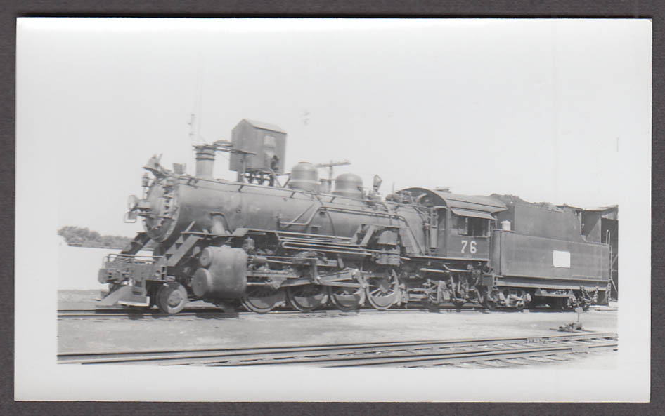Image for Midland Valley Railroad 2-8-2 #76 locomotive photo Wichita KS 1942