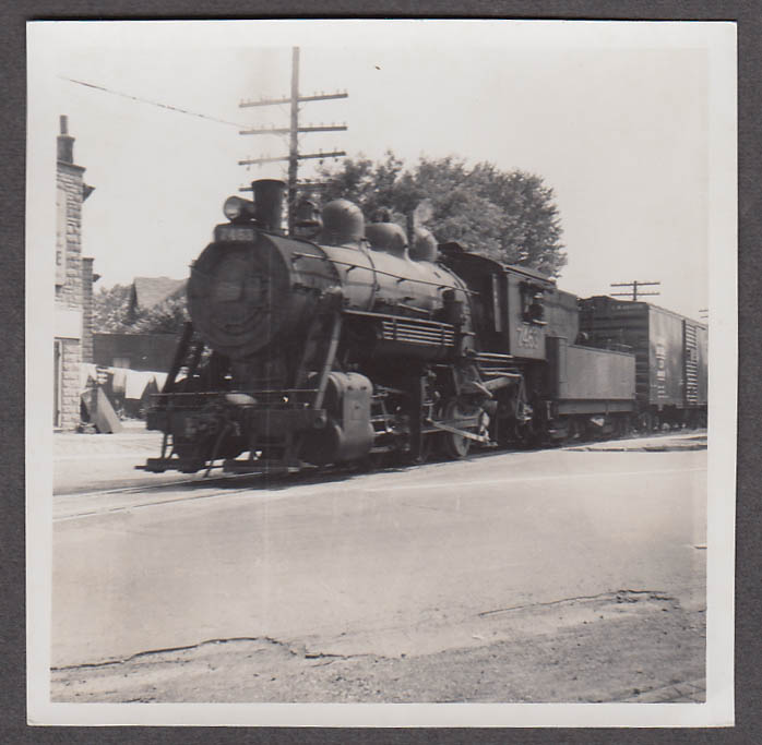 Image for Canadian National Railway 0-6-0 #7463 locomotive photo London ON 1955