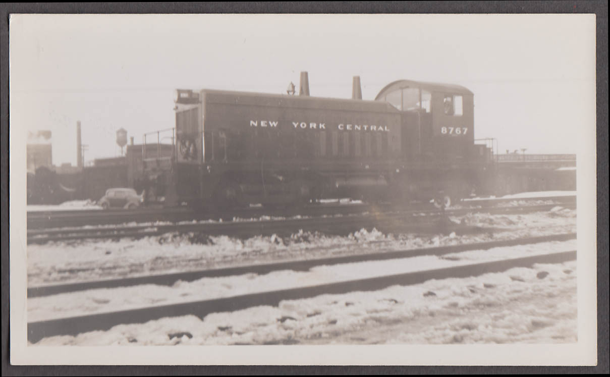 Image for New York Central RR diesel locomotive #8767 B&A Yard W Springfield photo 1949