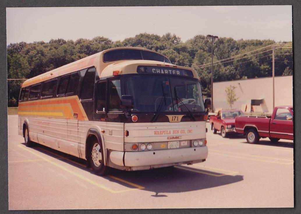 Image for Warpula Bus Co Charter #171 GMC bus snapshot 1991