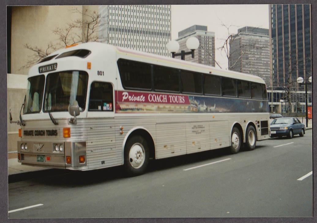 Image for Private Coach Tours Eagle #801 bus snapshot Boston-Huntington 1990