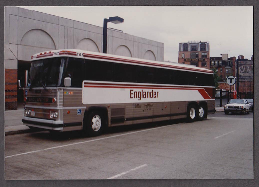 Image for Englander Coach Lines #8502 bus snapshot Boston Back Bay Station 1990