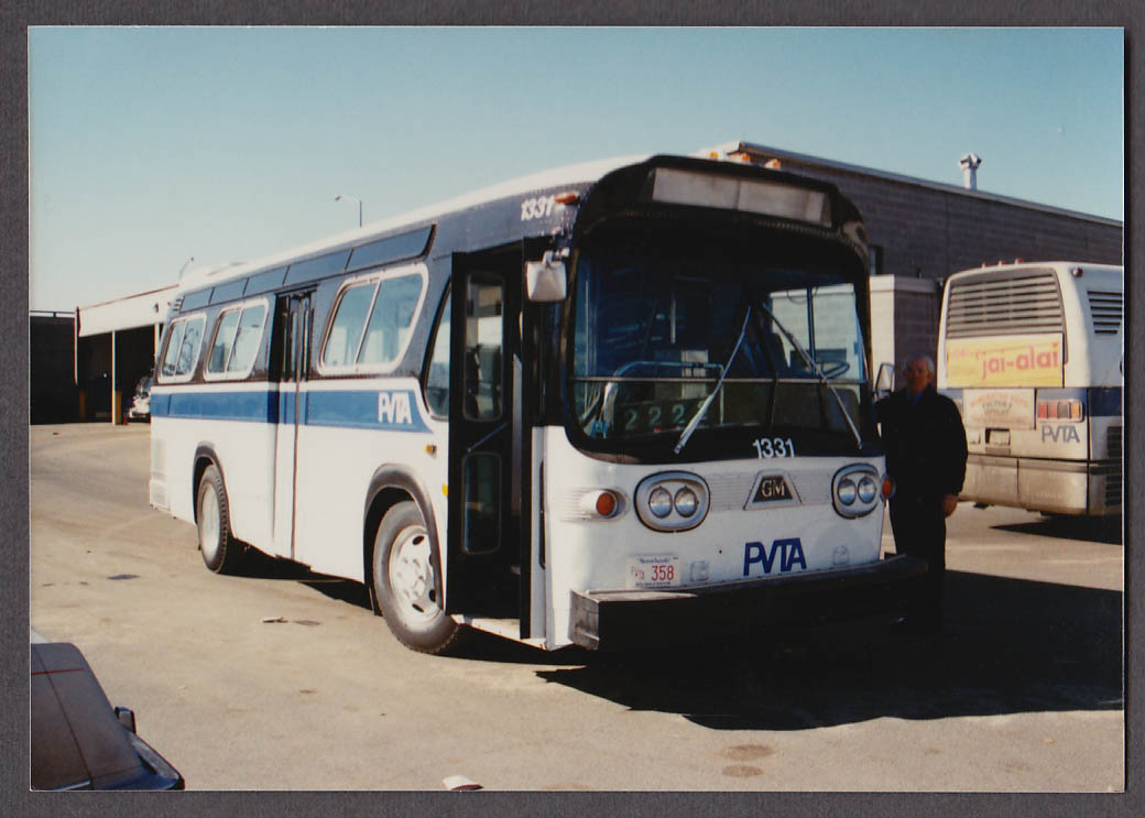 Image for Pioneer Valley Transit Authority GM #1331 bus snapshot 1990 Springfield MA