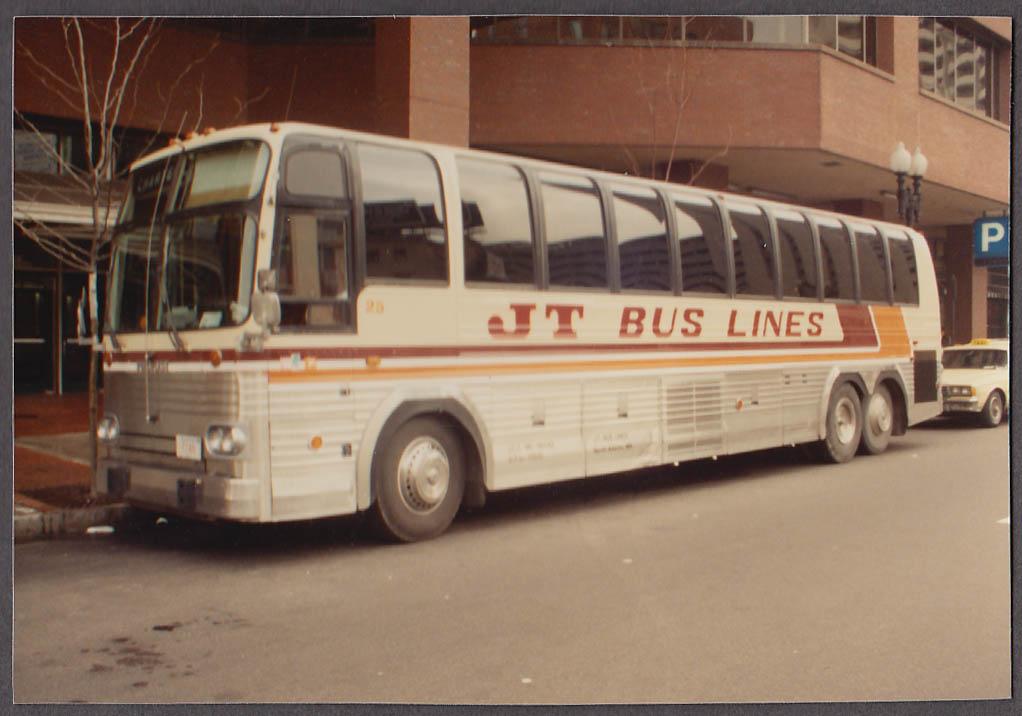 Image for JT Bus Lines North Adams MA Prevost #25 bus snapshot Boston 1988