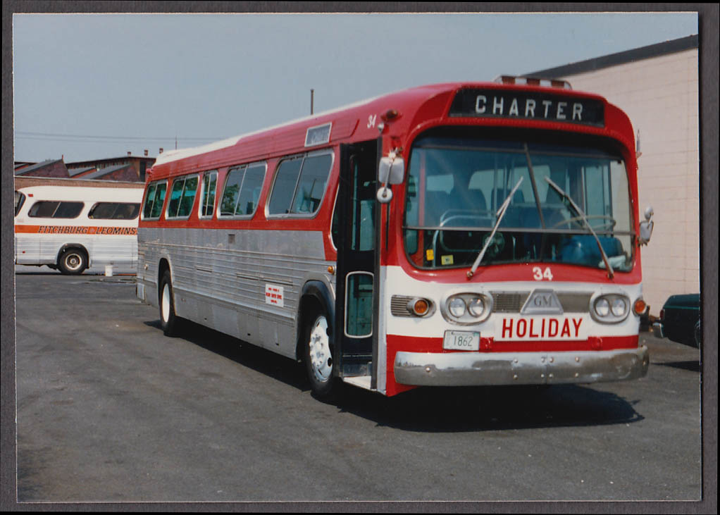 Image for Holiday GMC #34 Charter bus snapshot Massachusetts  1986