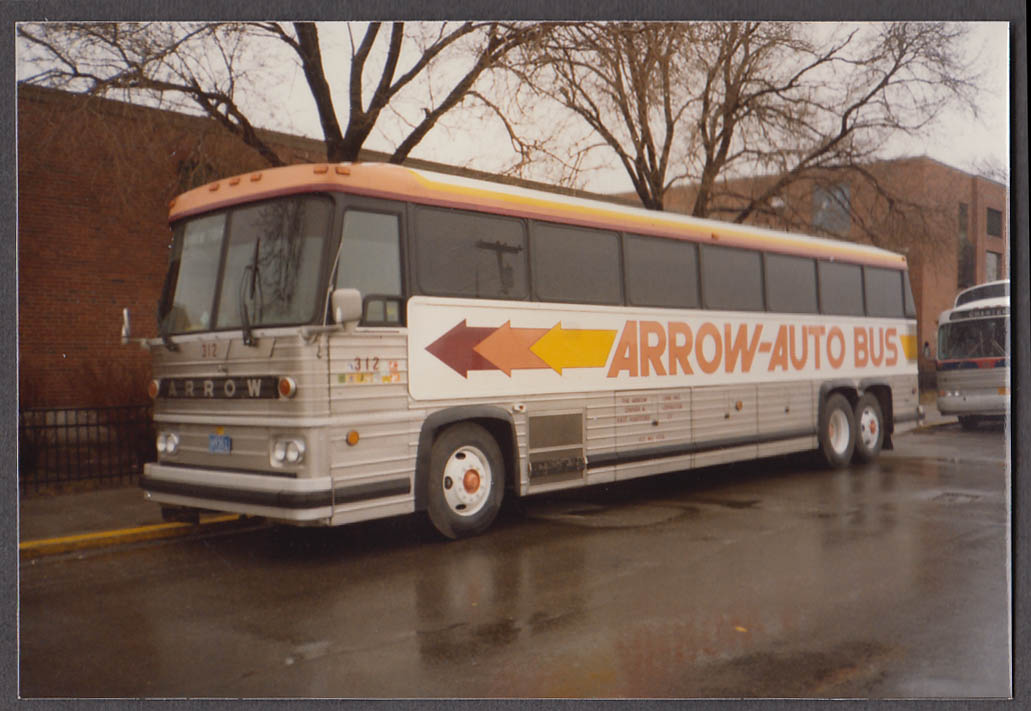 Arrow-Auto Lines East Hartford CT #312 bus snapshot Boston Columbia Pt 1983