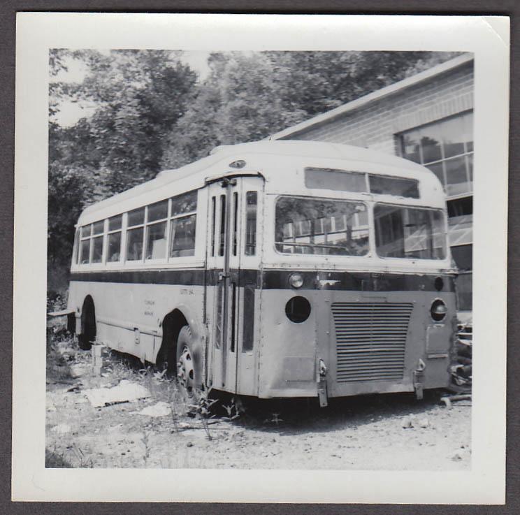 ACF relic bus #141 Flanagan's Bus Lines Gardner MA snapshot 1959
