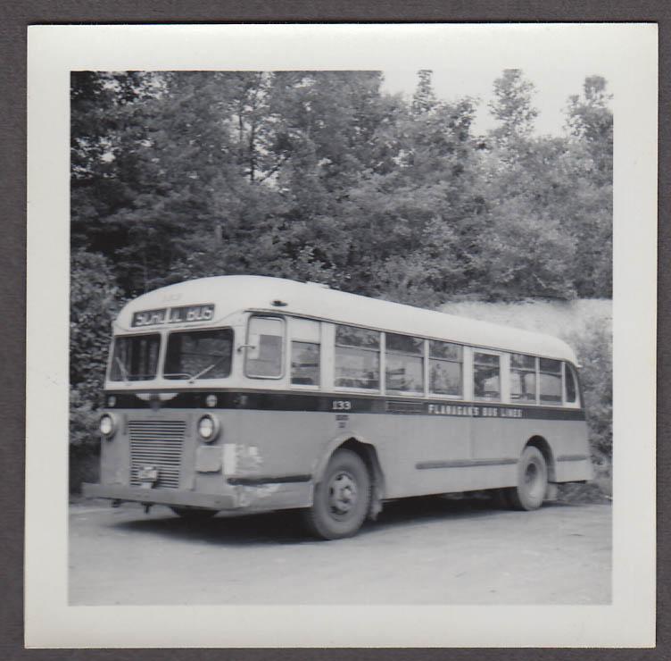ACF School Bus #133 Flanagan's Bus Lines Gardner MA snapshot 1956