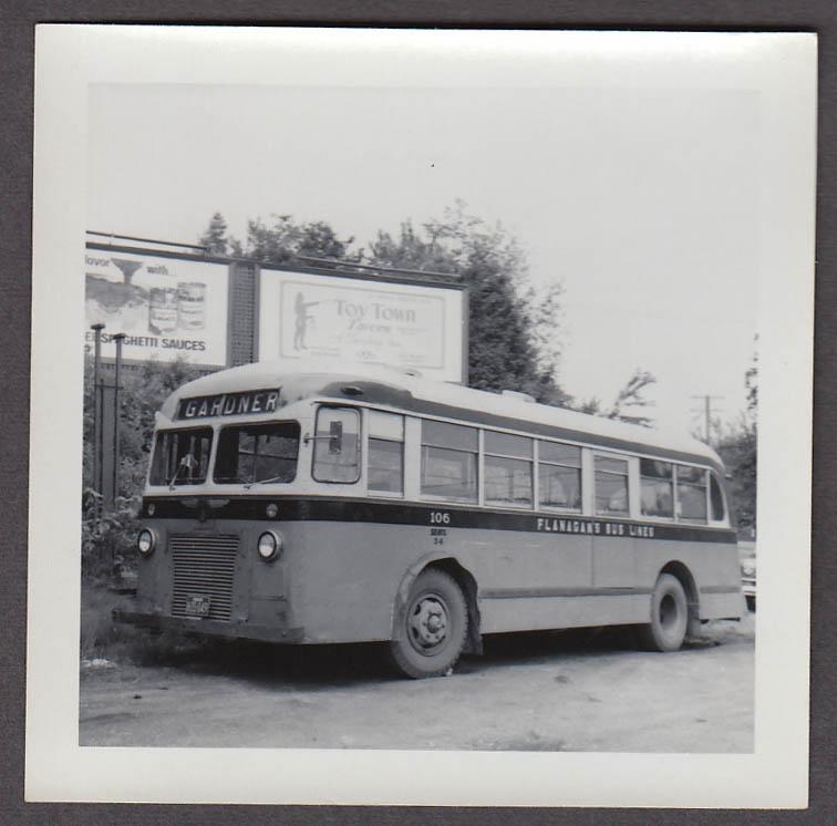 ACF Model 31-S #106 Flanagan's Bus Lines Gardner MA snapshot 1959