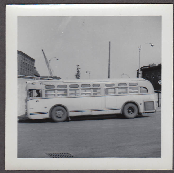 GM TDM3207 #43 Flanagan's Bus Lines Fitchburg MA snapshot 1959