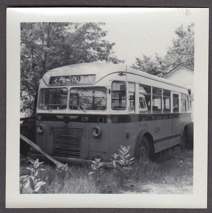 ACF Model 26-S #29 Flanagan's Bus Lines Gardner MA snapshot 1959