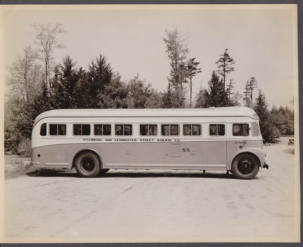 ACF #55 Fitchburg & Leominster Street Railway bus photo 1940s