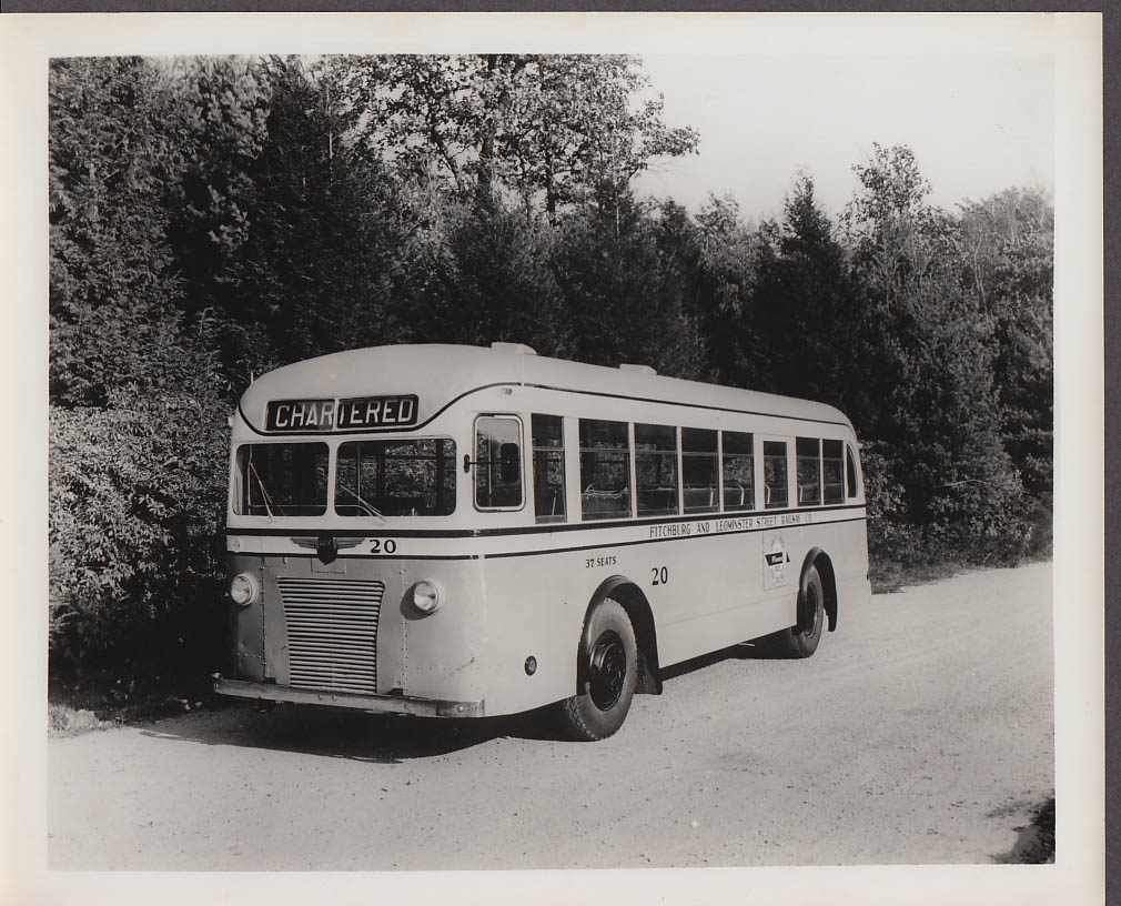 ACF #20 Fitchburg & Leominster Street Railway bus photo 1940s