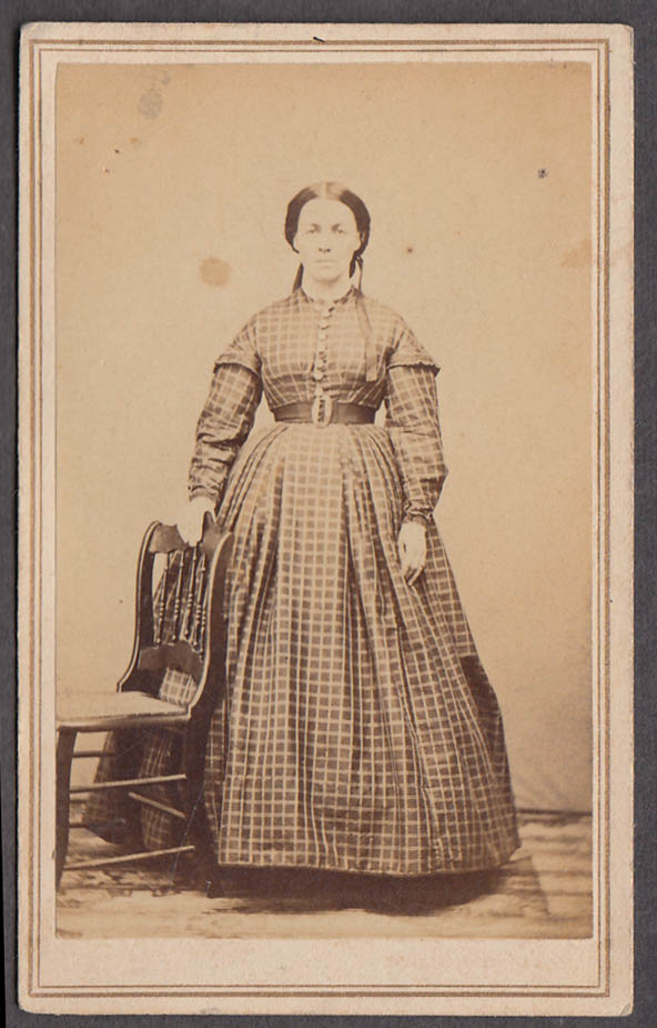 Image for Ellen Leland Munger standing woman CDV location unknown