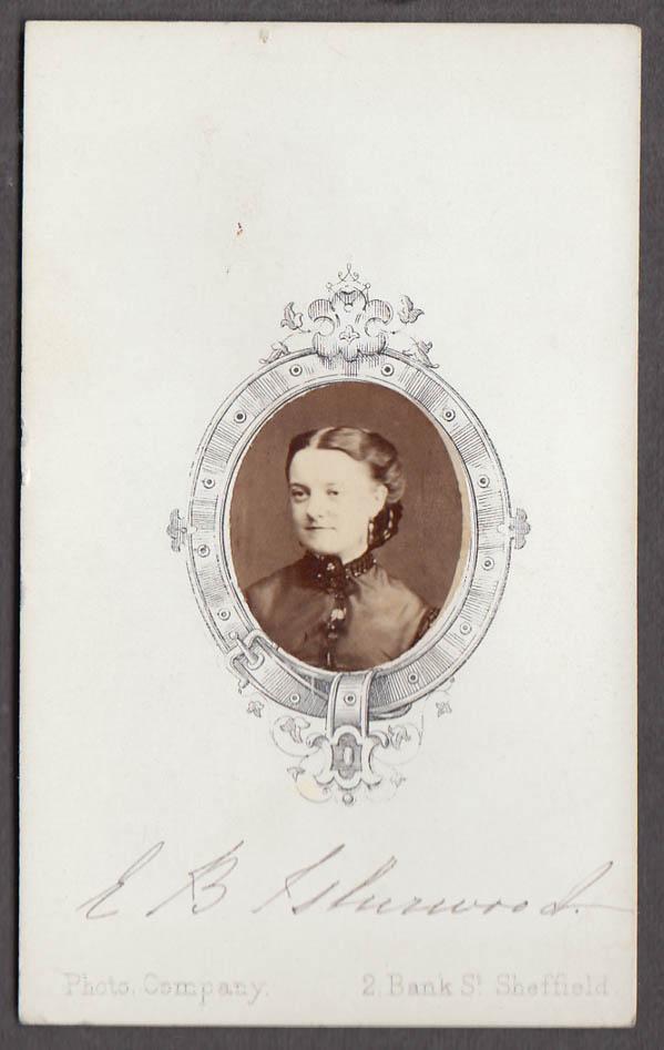 Image for Oval portrait woman CDV by E B Isherwood Sheffield England 1860s